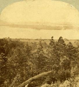 Ireland Killarney Landscape Panorama Old Stereoview Photo 1860