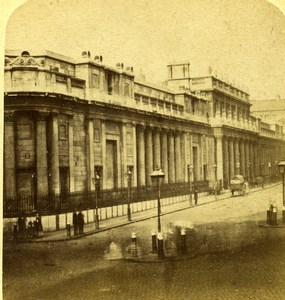 United Kingdom London Bank of England Old Stereoview Photo Radiguet ? 1860