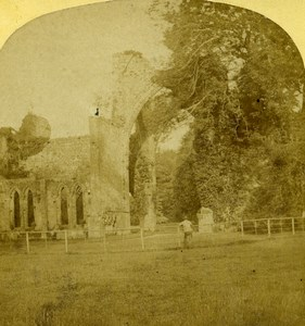 United Kingdom Cumberland Calder Abbey Old Stereoview Photo Ogle & Edge 1860
