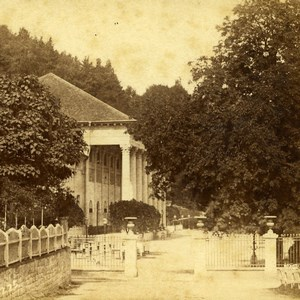 Germany Baden Baden Großherzogtum Trinkhalle Old Stereoview Photo Fay 1860