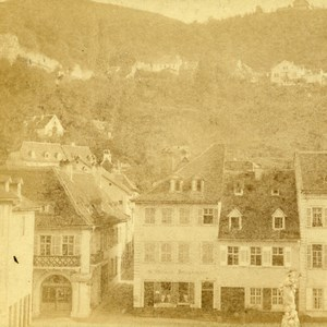 Germany Großherzogtum Baden Heidelberg Old Stereoview Photo Fay 1860