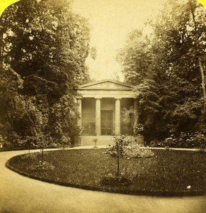 Germany Berlin Mausoleum Castle Charlottenburg Old Stereoview Photo Plaut 1860
