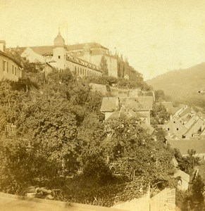 Germany Rhine Border Baden Baden Panorama Old Stereoview Photo Bertrand 1860