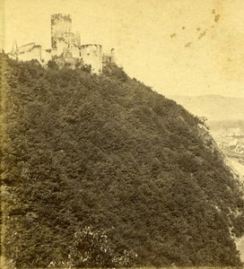Germany Landscape Lahneck Panorama Old Stereoview Photo Braun 1860