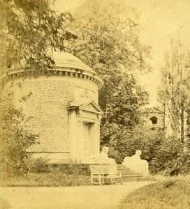 Germany Gardens of Schwetzingen Temple Old Stereoview Photo Braun 1860