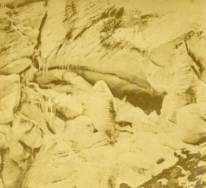 Germany Tyrol Ice Grotto Rothmoos Glacier Old Stereoview Photo Radiguet 1860