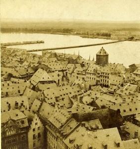 Germany Mainz Panorama Landscape Old Stereoview Photo Radiguet 1860