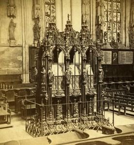 Germany Nuremberg St Sebald Church Old Stereoview Photo Konig 1860