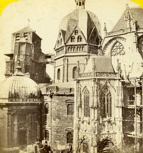 Germany Aachen Cathedrale Old Stereoview Photo Jouvin 1860