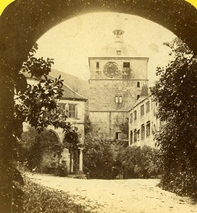 Germany Grand Duchy of Baden Heidelberg Tower Old Stereoview Photo Jouvin 1860