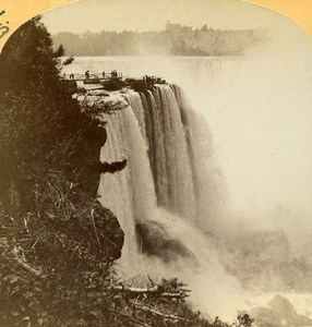 USA Canada Niagara Falls Horseshoe Fall Old Stereoview Photo Baker 1890