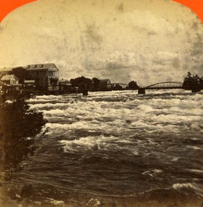 USA Canada Niagara Falls Avery Point Old Stereoview Photo Curtis 1880