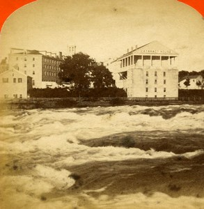 USA Canada Niagara Falls Cataract House Old Stereoview Photo Curtis 1880