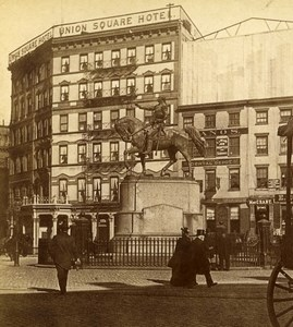 USA New York Union Square Old Stereoview Photo Campbell 1896