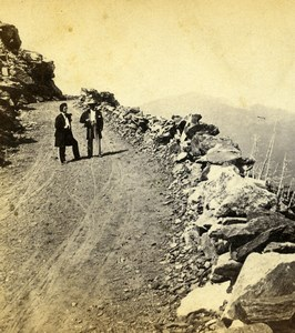 USA Mount Washington Carriage Road Old Stereoview Photo Soule 1875