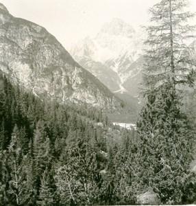 Italy Dolomites Mountain Ampezzo Road Sextener Rotwand Stereoview Photo NPG 1900