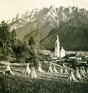 Italy South Tyrol Mountain Toblach Old Stereoview Photo Photochrom 1900