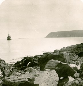 Norway near the North Cape Old Stereoview Photo 1900