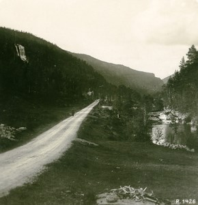 Norway Tvintevos Panorama Old Stereoview Photo 1900