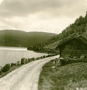 Norway near Vossevangen Old Stereoview Photo 1900