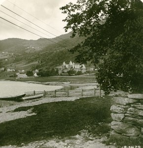 Norway Voss panorama Old Stereoview Photo 1900