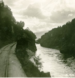 Norway Road between Voss & Bergen Old Stereoview Photo 1900