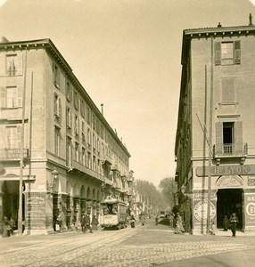France French Riviera Nice Avenue de la Gare Old Stereoview Photo NPG 1900