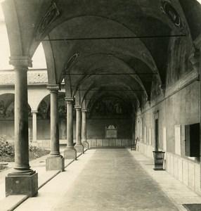 Italie Florence Eglise San Marco Ancienne Photo Stereo NPG 1900