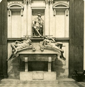 Italy Firenze Mausoleum Medicis Old Stereoview Photo NPG 1900