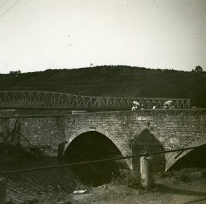 Belgium Anseremme Bridge Old Amateur Stereoview Photo Possemiers 1900