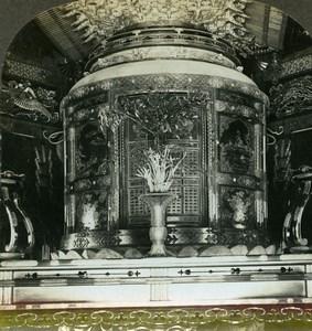 Japan Tokyo Shiba Buddhist Temple Shogun Mausoleum Stereoview Photo Kelley 1900