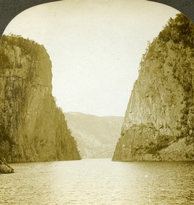 Norway the Portal Sandal Fjord Old Stereoview Photo William Rau 1903