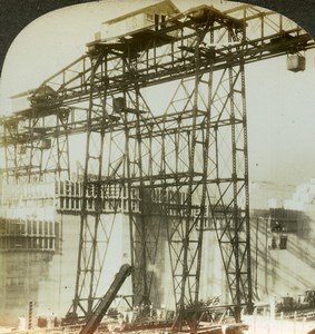 Panama Canal Construction Pedro Miguel Old Stereoview Photo Kelley 1911