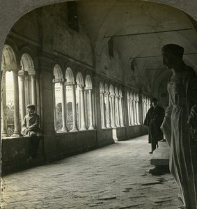 Italy Rome Cloister Saint Paul Outside the Walls Stereoview Photo Kelley 1900