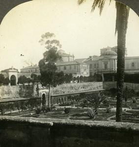 Italy Roma Vatican pope Private Gardens Old Stereoview Photo William Rau 1898