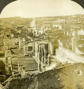 Italy Pompeii Pompei Panorama Old Stereoview Photo Kelley 1900