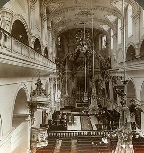 Canada Quebec Cathedral-Basilica of Notre-Dame Stereoview Photo Underwood 1900