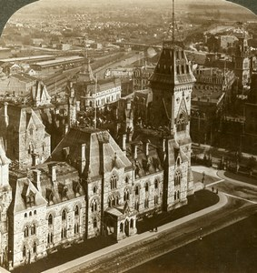 Canada Ontario Ottawa Parliament Building Old Stereoview Photo Underwood 1904