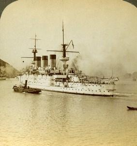 China Port Arthur Russian Japanese War Peresvet Stereoview Photo Underwood 1904