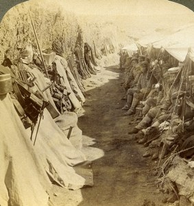 China Port Arthur Russian Japanese War Trench Stereoview Photo Underwood 1904