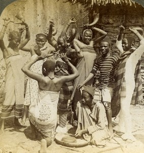 East Africa National dance Swahili Women Old Stereoview Photo Underwood 1909