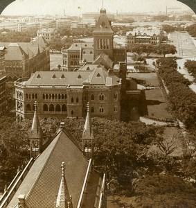 India Mumbai Bombay University Old Stereoview Photo Underwood 1903