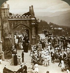 India Himalaya Shimla Simla Christ Church Old Stereoview Photo Underwood 1903