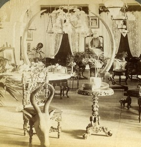 Ceylon Colombo home of Lady de Soysa Old Stereoview Photo Underwood 1908