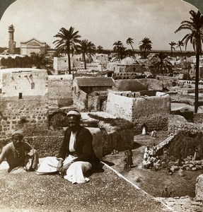 Palestine Israel Lod Panorama Lydda Old Stereoview Photo Underwood 1900