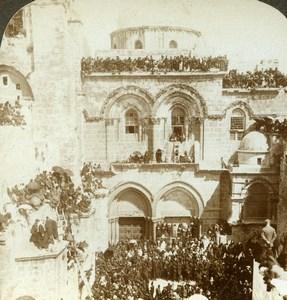 Palestine Israel Jerusalem Holly Sepulchre Stereoview Photo Underwood 1897