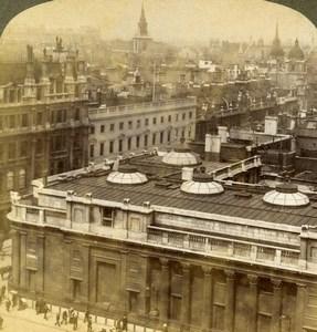 United Kingdom London Bank of England Old Stereoview Photo Underwood 1907