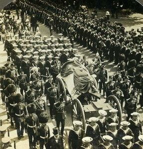 United Kingdom London King Edward VII funeral Stereoview Photo Underwood 1910