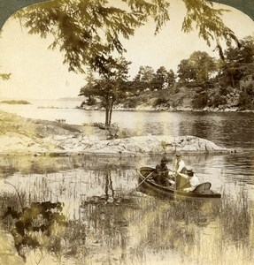 Canada Saint Lawrence River Thousand Islands Old Stereoview Photo Underwood 1900