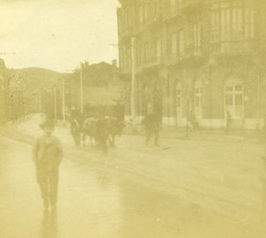 France French Riviera Street Scene Old Amateur Stereoview Photo Pourtoy 1900